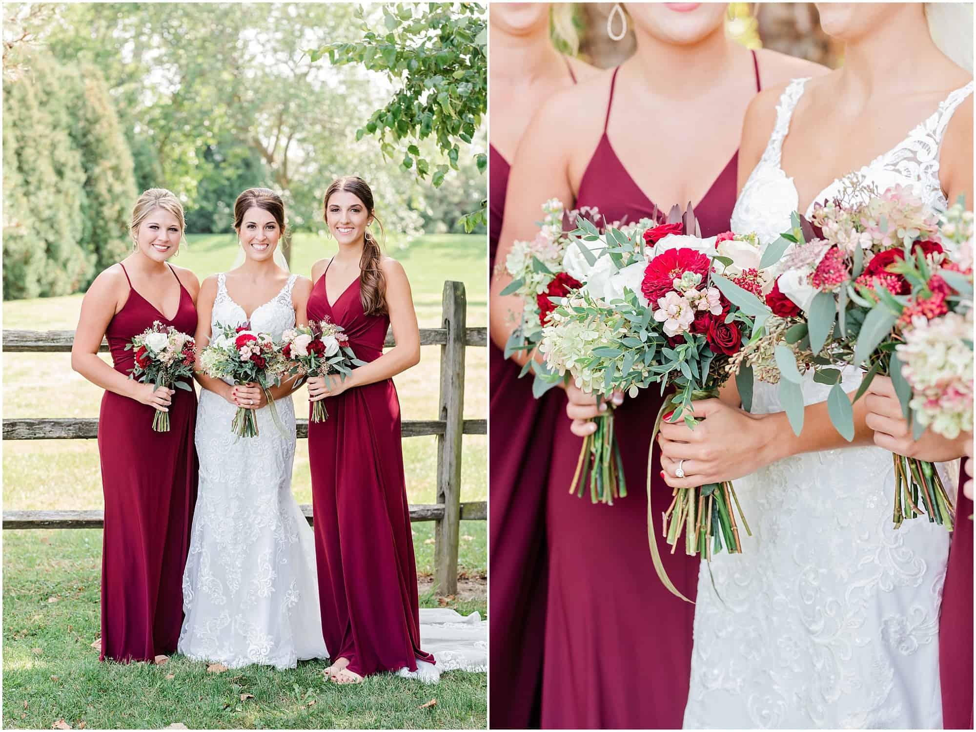bridesmaids pose at millsite lodge by tiffany murray