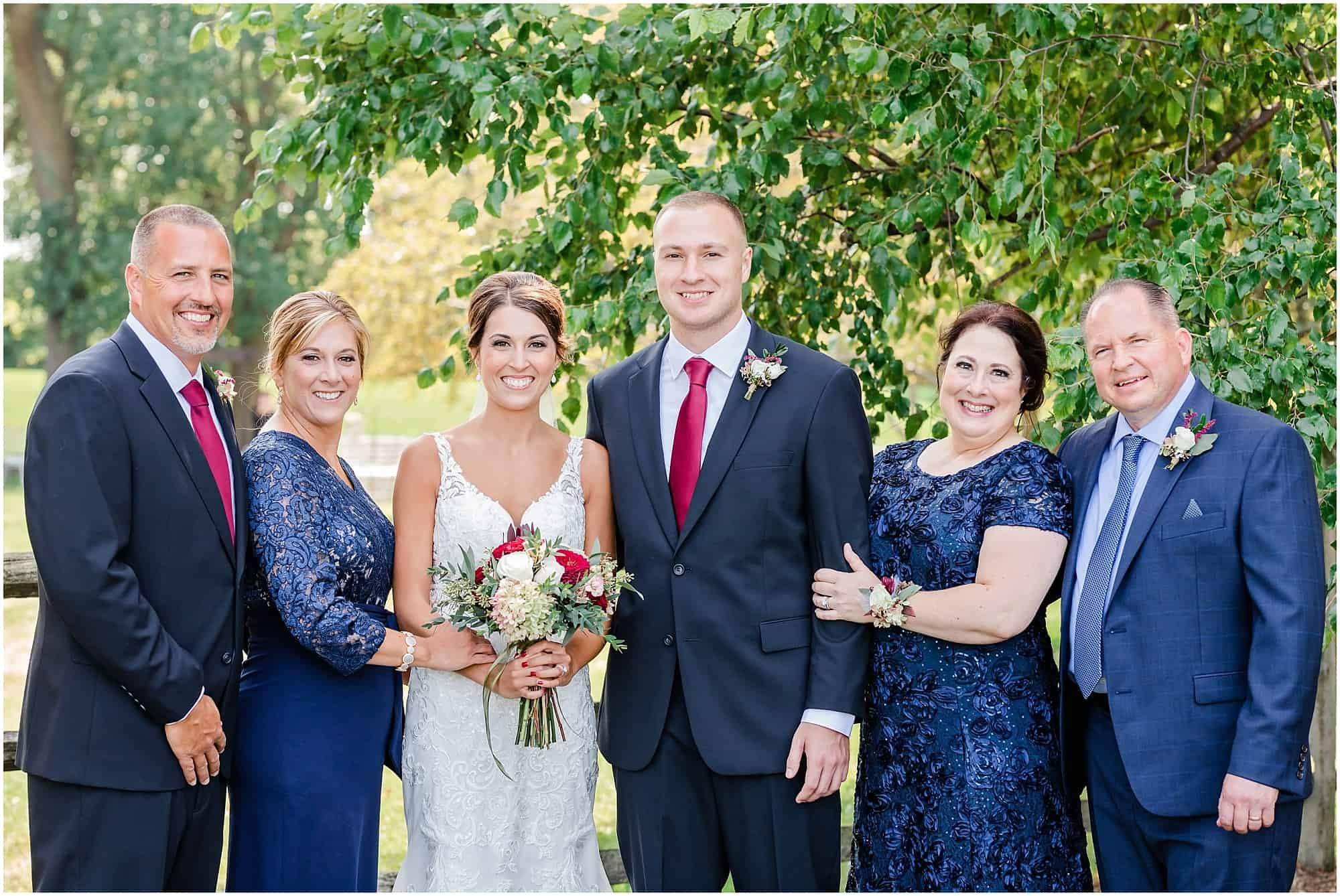 family portrait after wedding at millsite lodge by tiffany murray