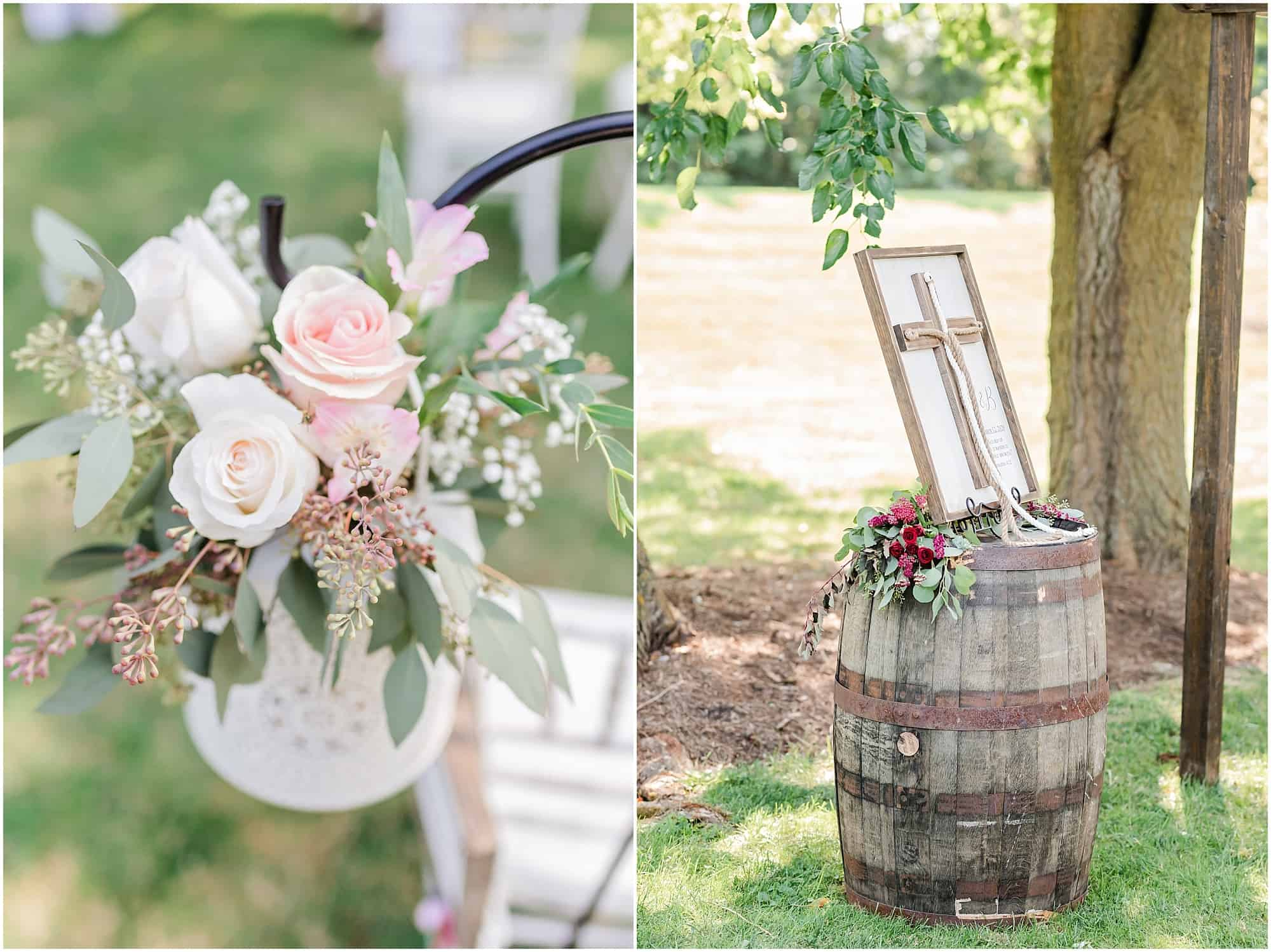 floral details for millsite lodge ceremony by tiffany murray