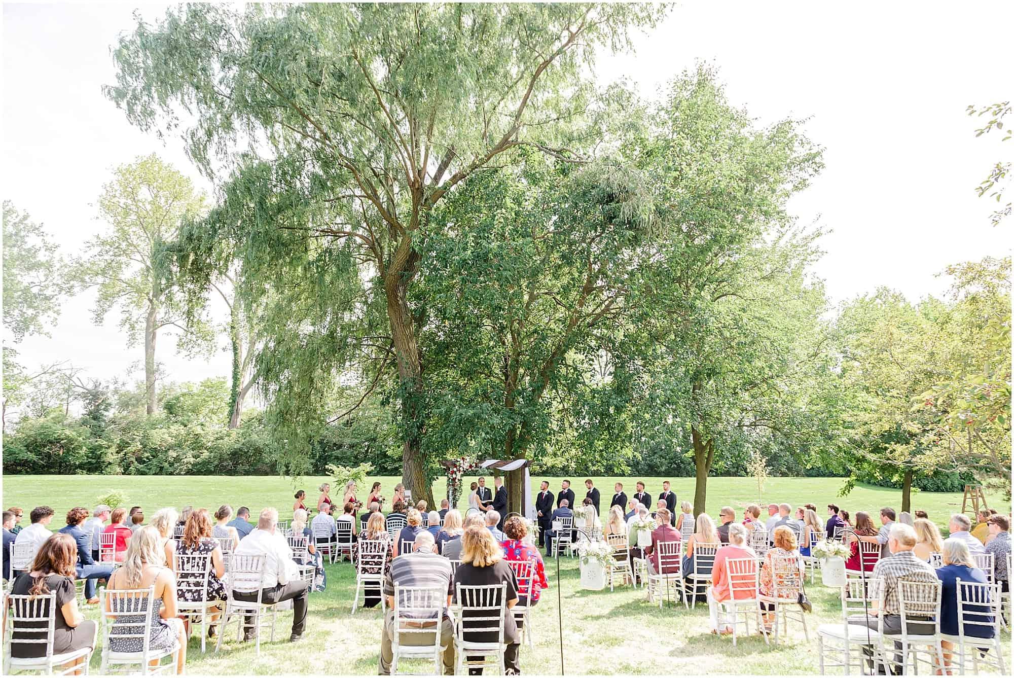 millsite lodge wedding ceremony by tiffany murray