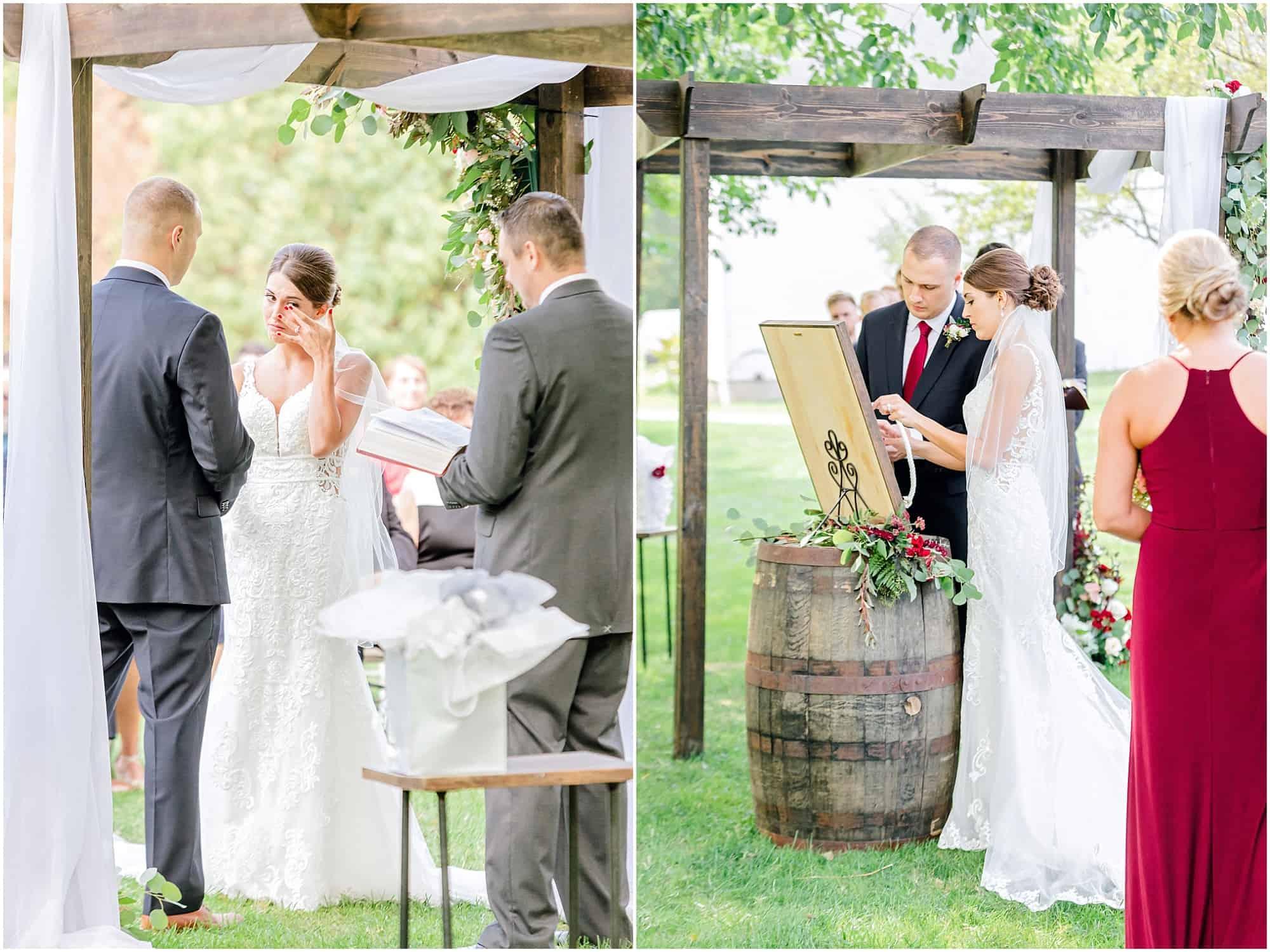 millsite lodge wedding ceremony by sandusky ohio photographer tiffany murray