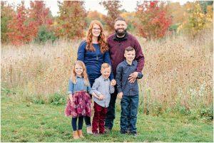fall family photograph pine hill sauers farm