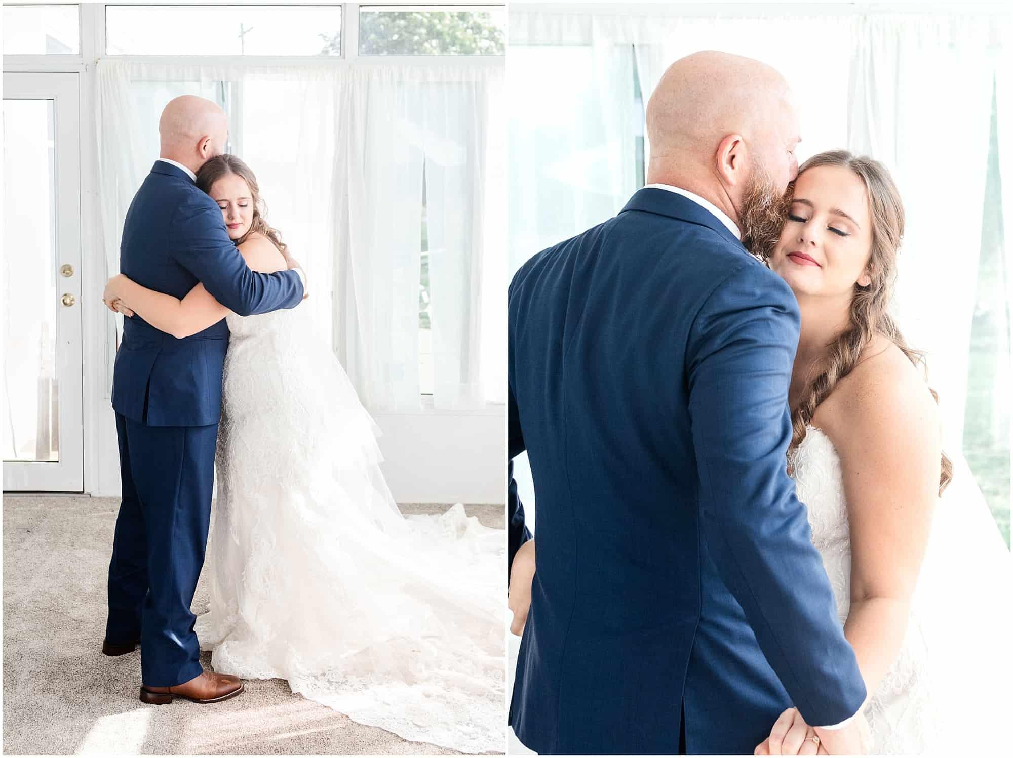 norwalk ohio wedding father daughter first look