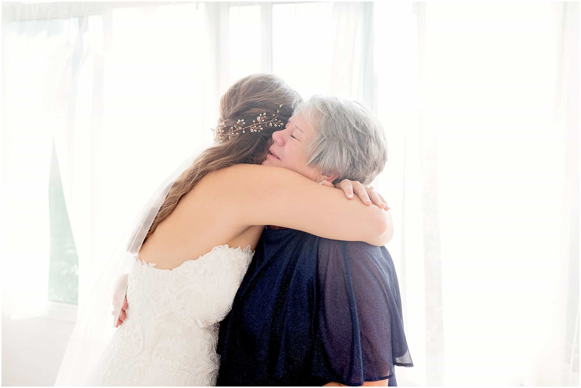 norwalk ohio wedding bride and mother
