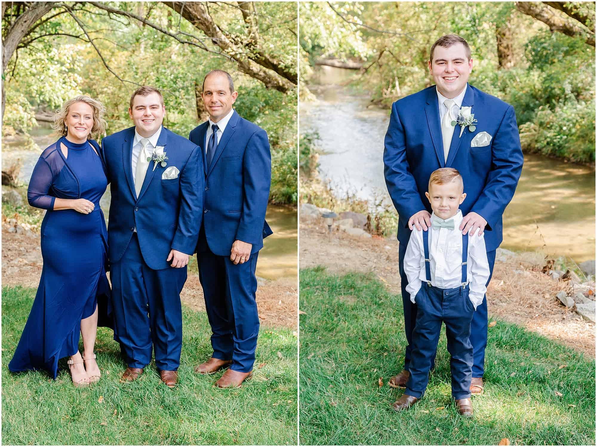 norwalk ohio wedding groom with parents