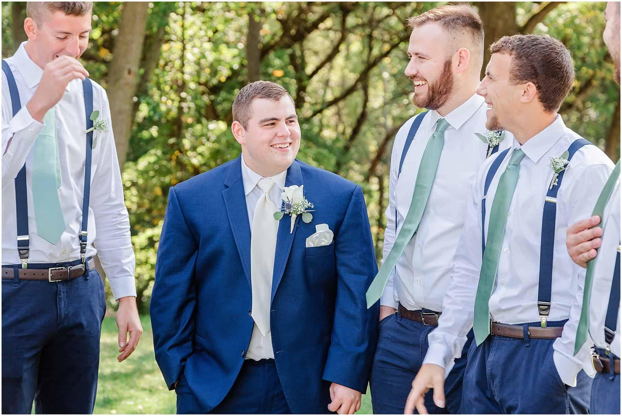 norwalk ohio wedding groom before ceremony