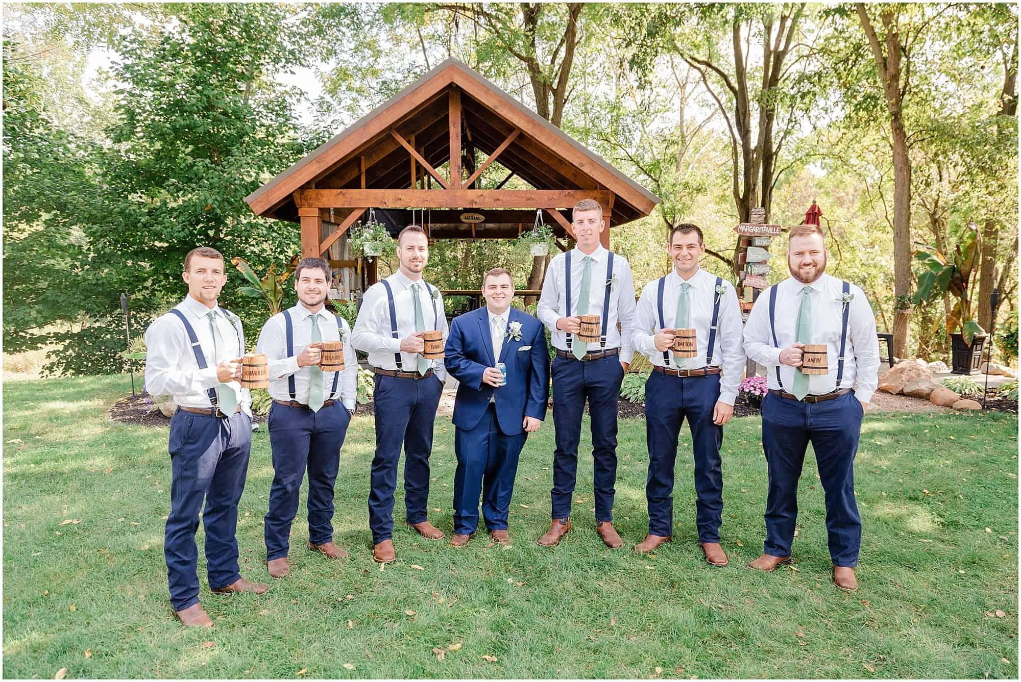 norwalk ohio wedding with groomsmen