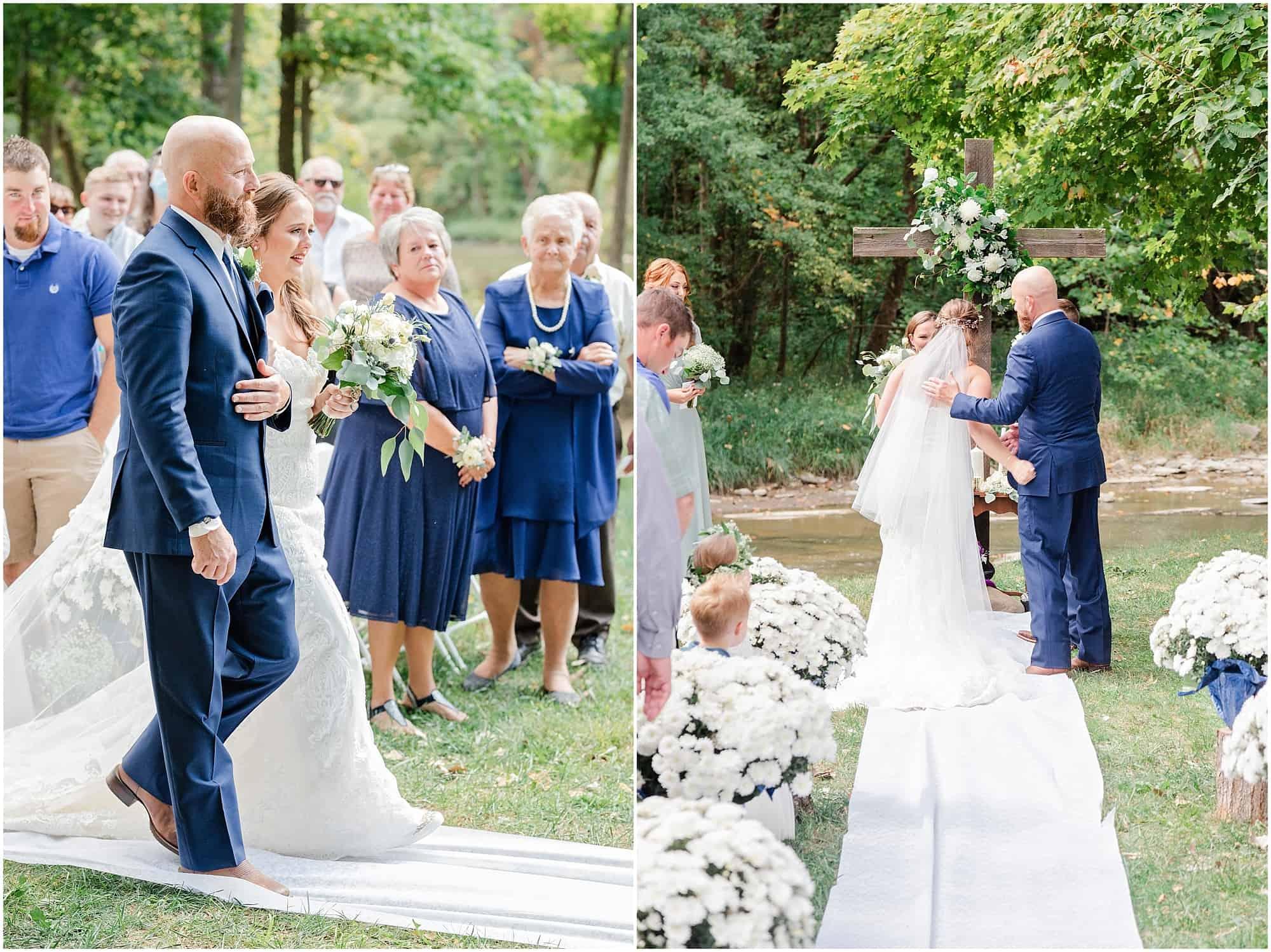 norwalk ohio wedding outdoor ceremony