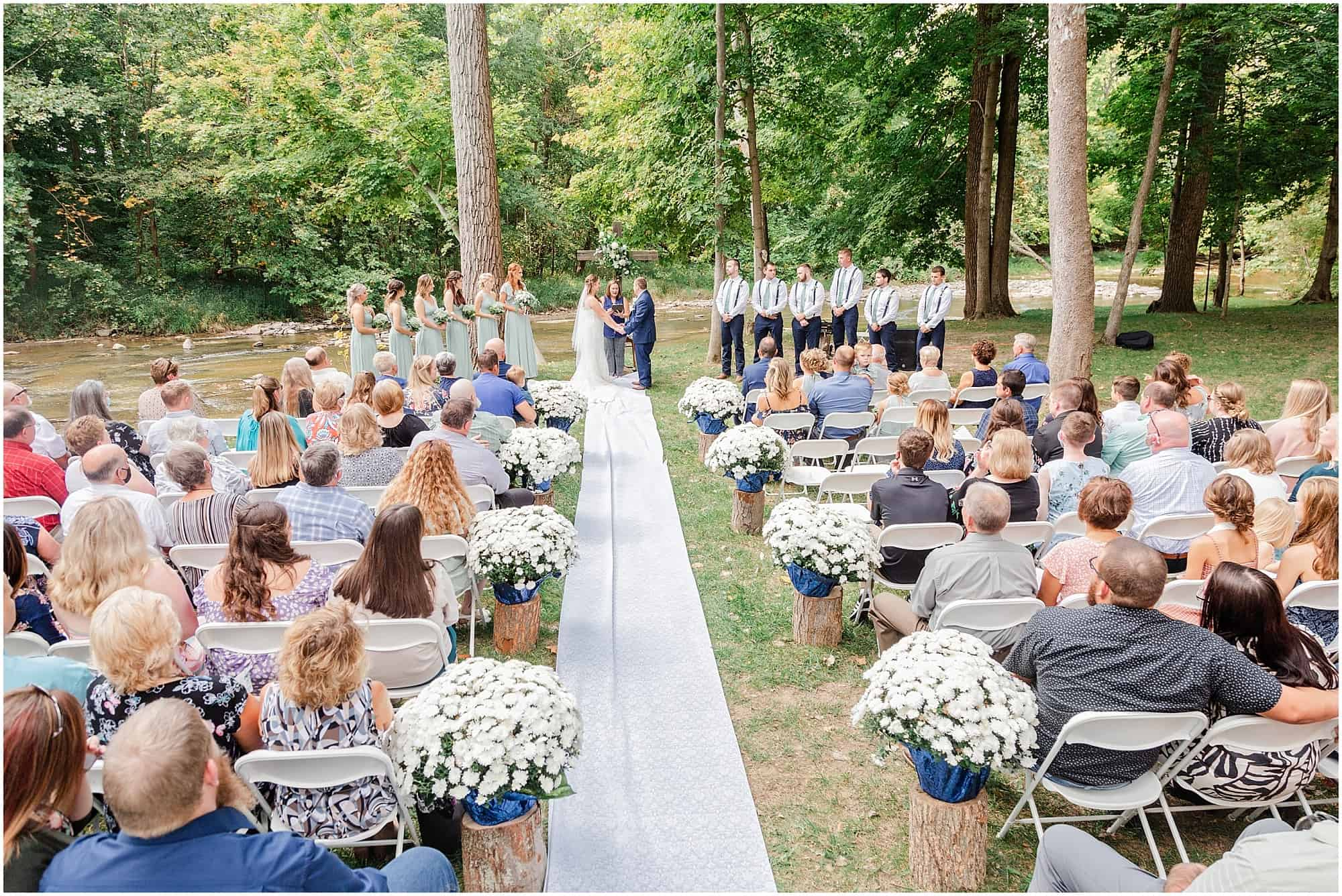 norwalk ohio wedding riverbank wedding