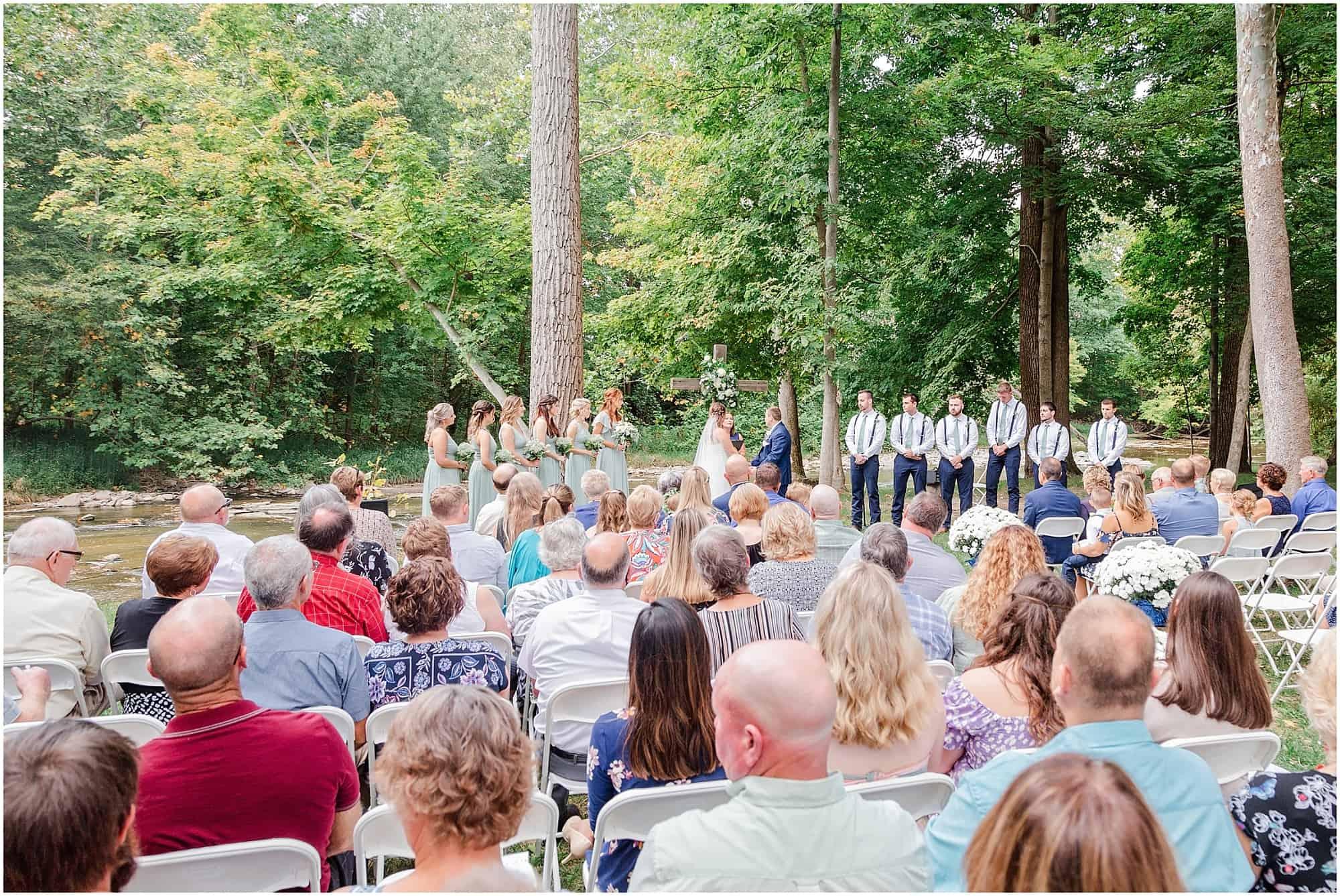 norwalk ohio wedding on huron riverbank