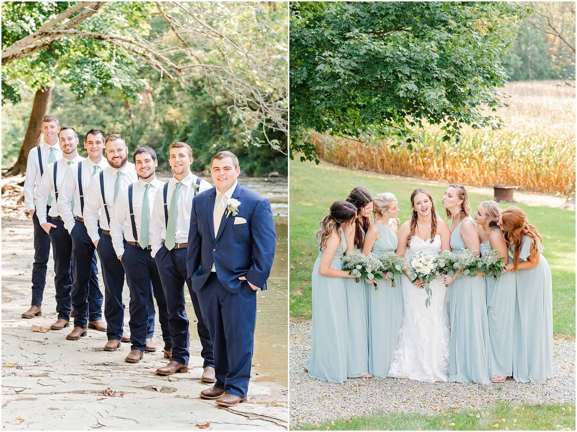 norwalk ohio wedding bridal party photos