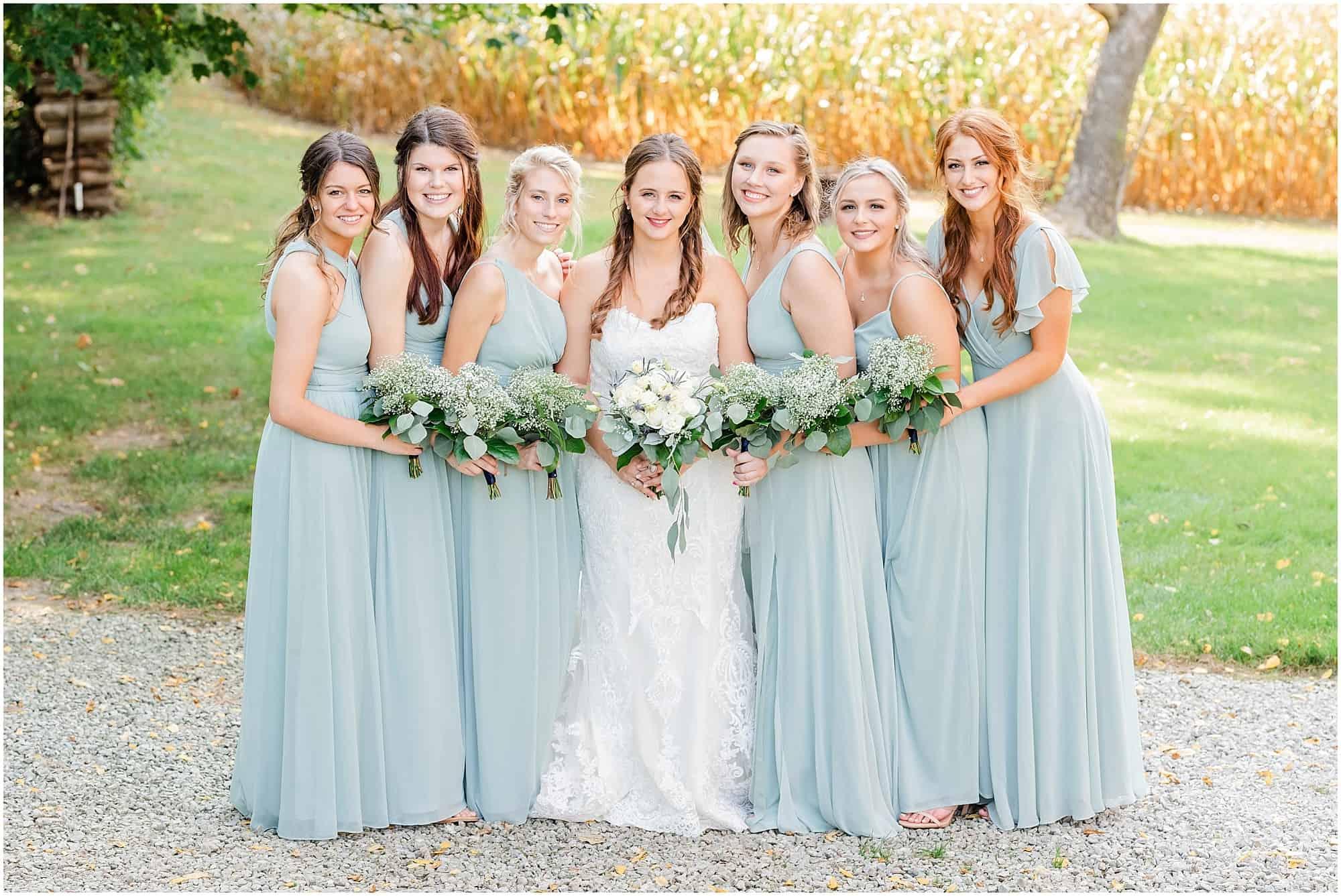 norwalk ohio wedding bride with bridesmaids