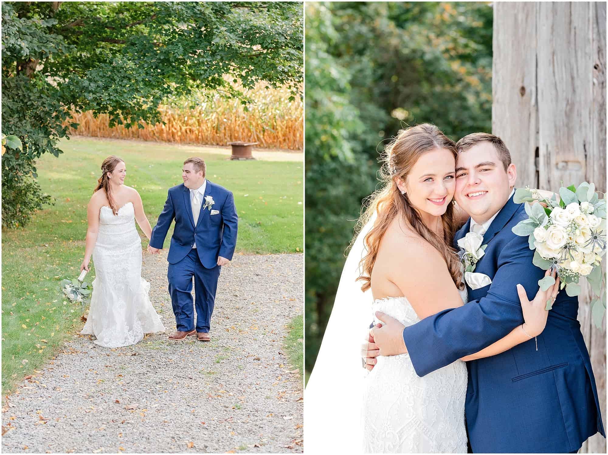 norwalk ohio wedding bride and groom