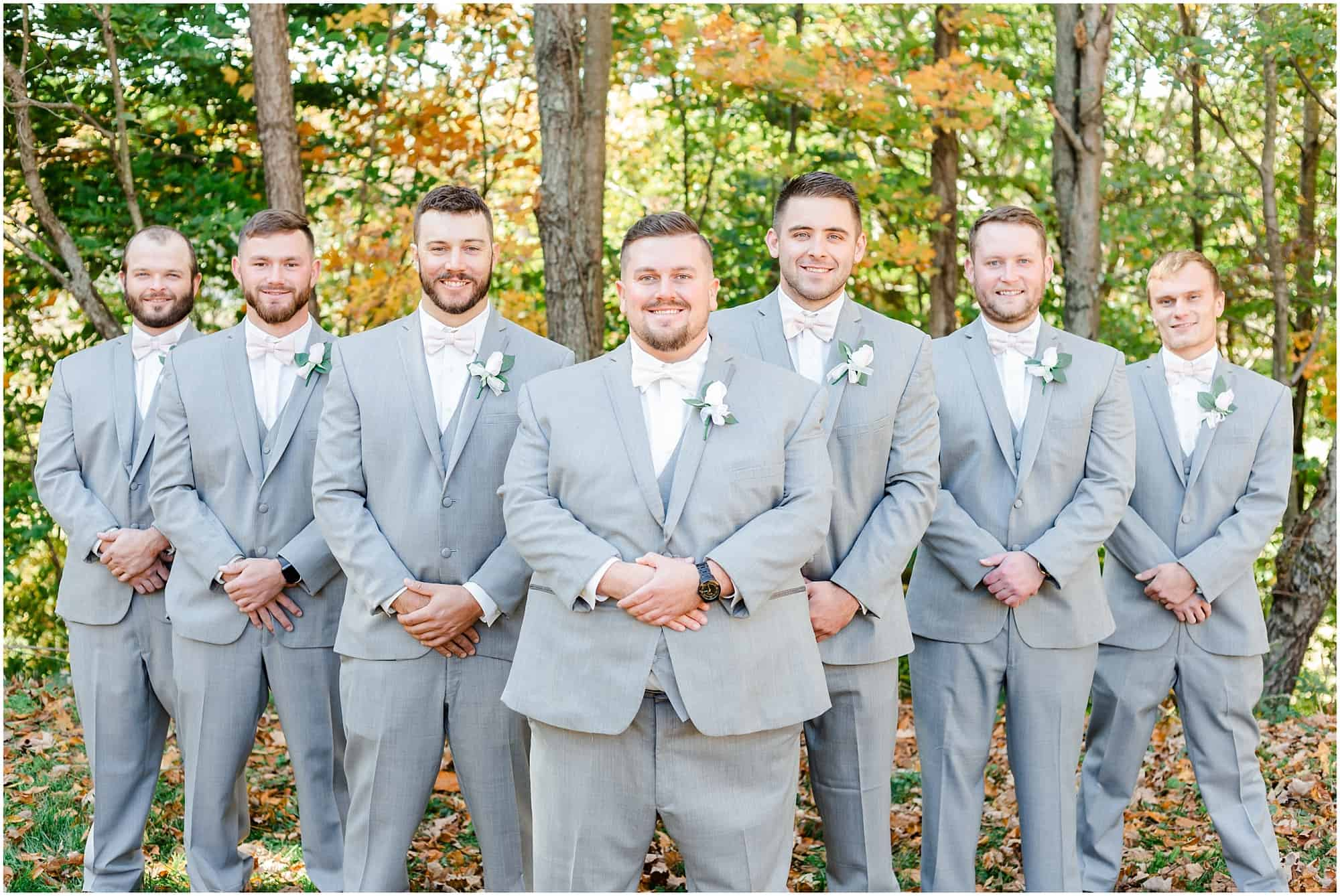 fall wedding at willow haven