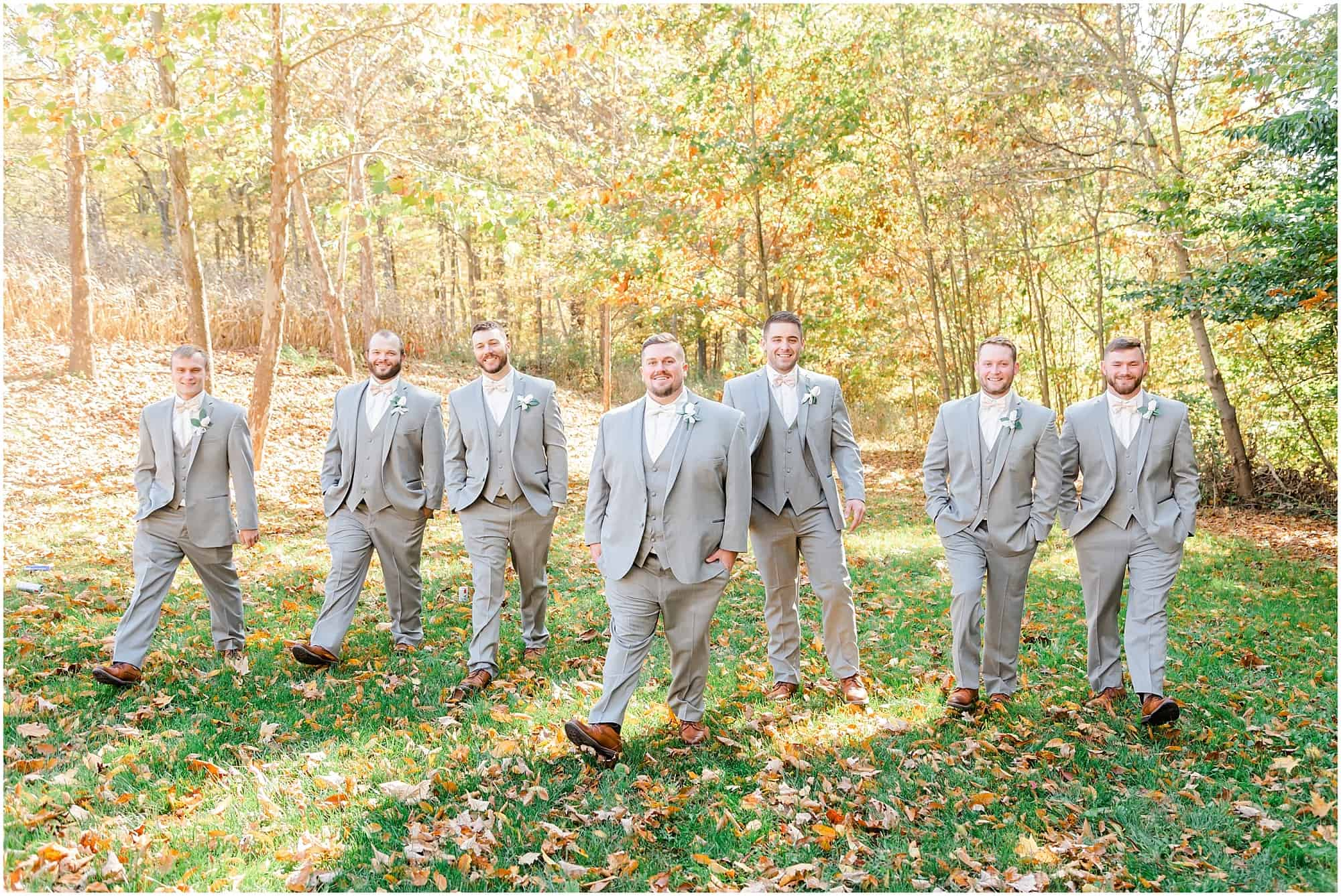 groomsmen portrait fall wedding