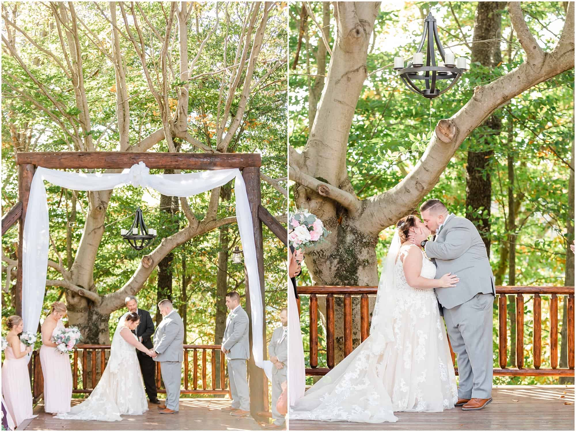 first kiss under pergola at willow haven