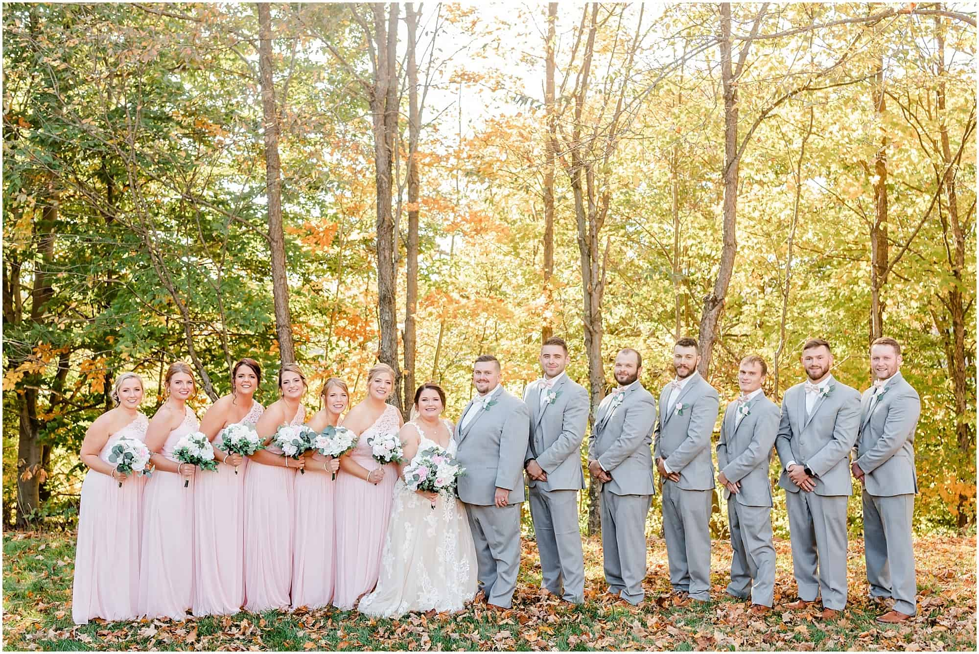 willow haven wedding fall bridal party