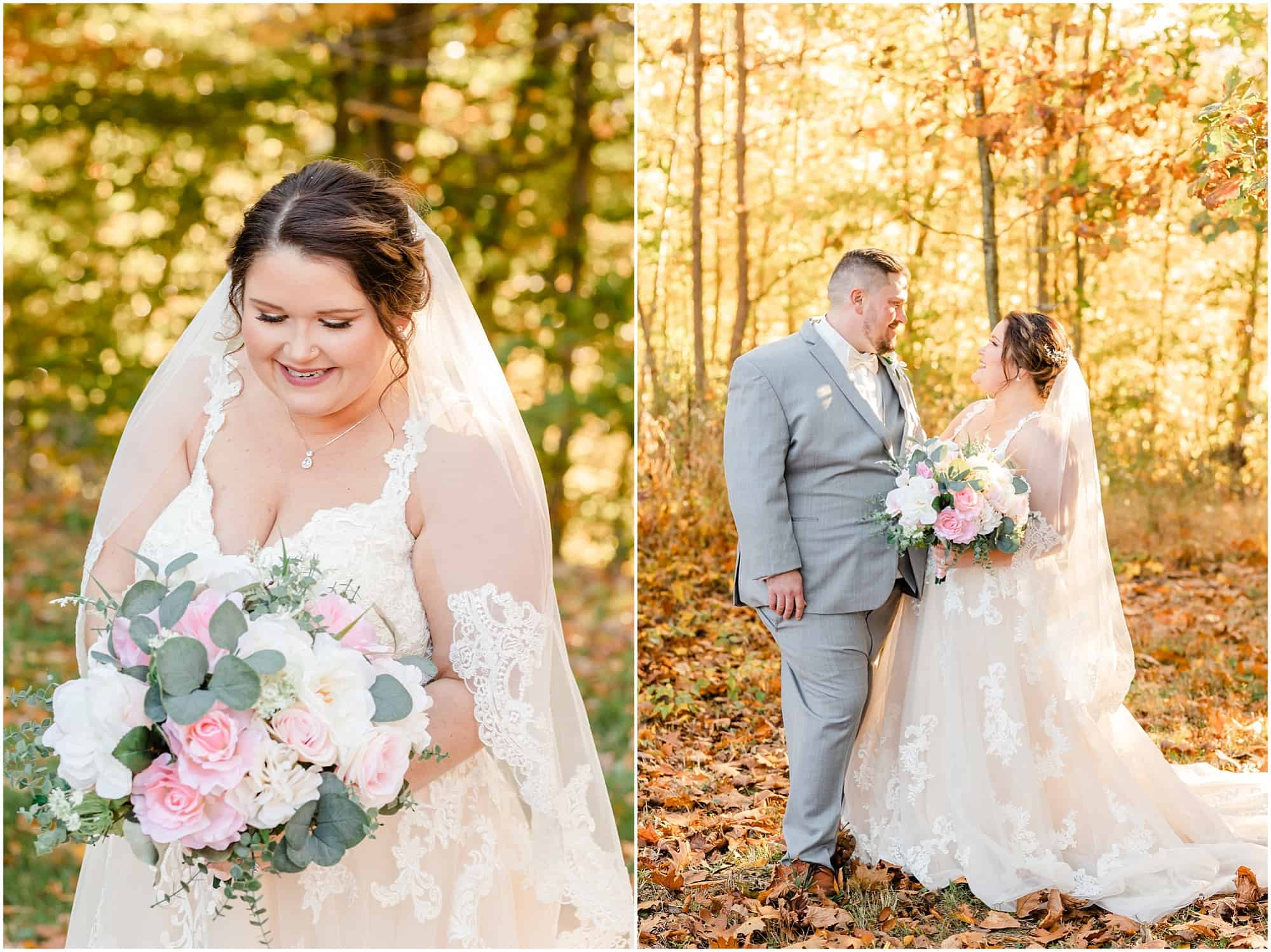 fall wedding portraits at willow haven