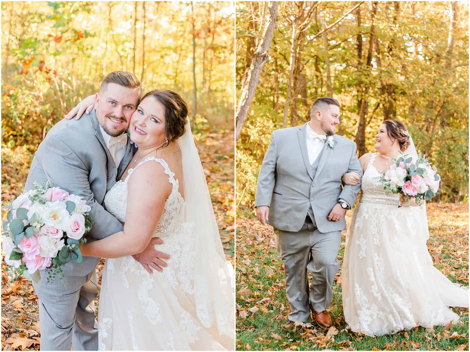 bridal portraits after fall wedding