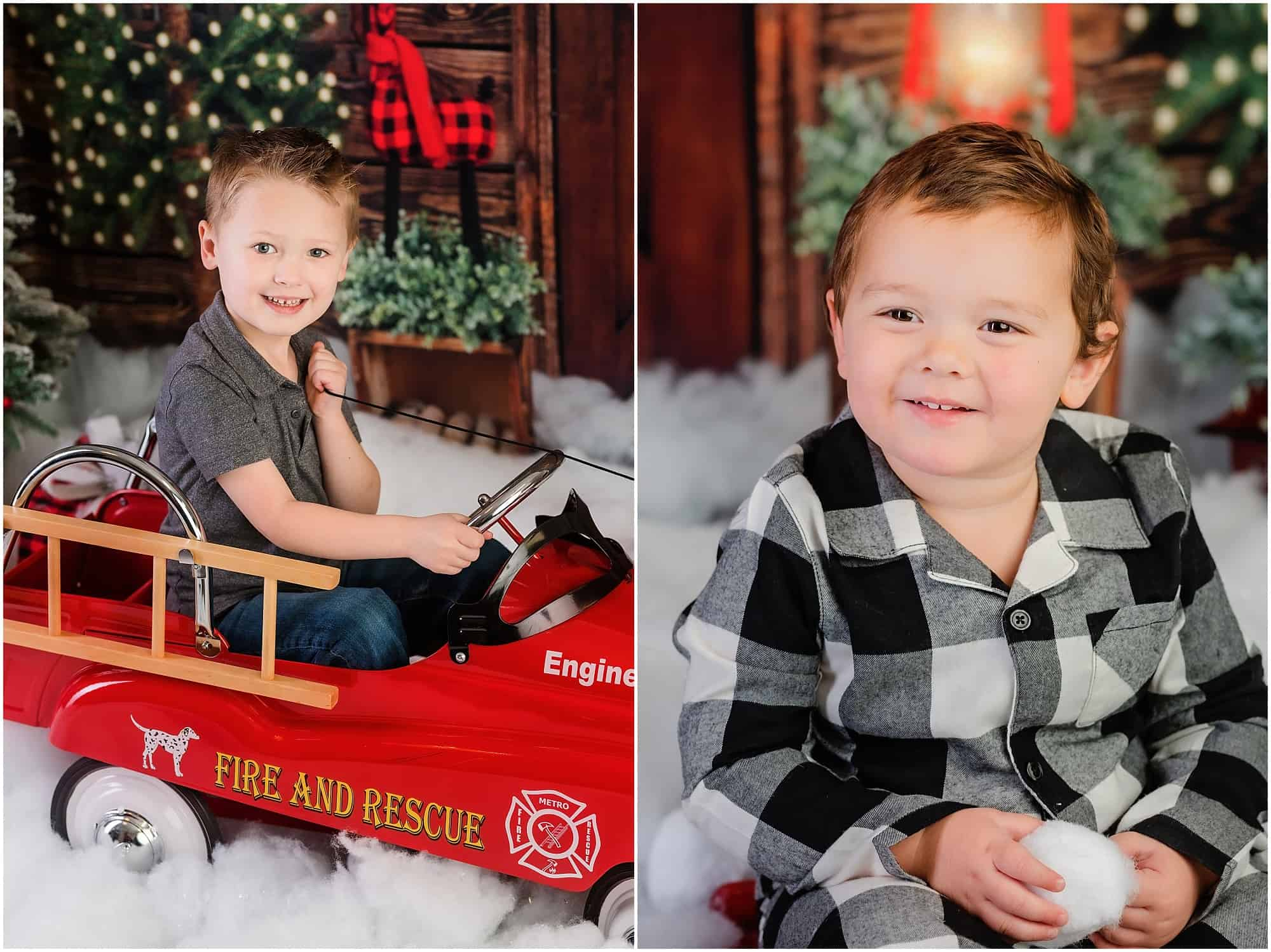 little boys christmas portraits