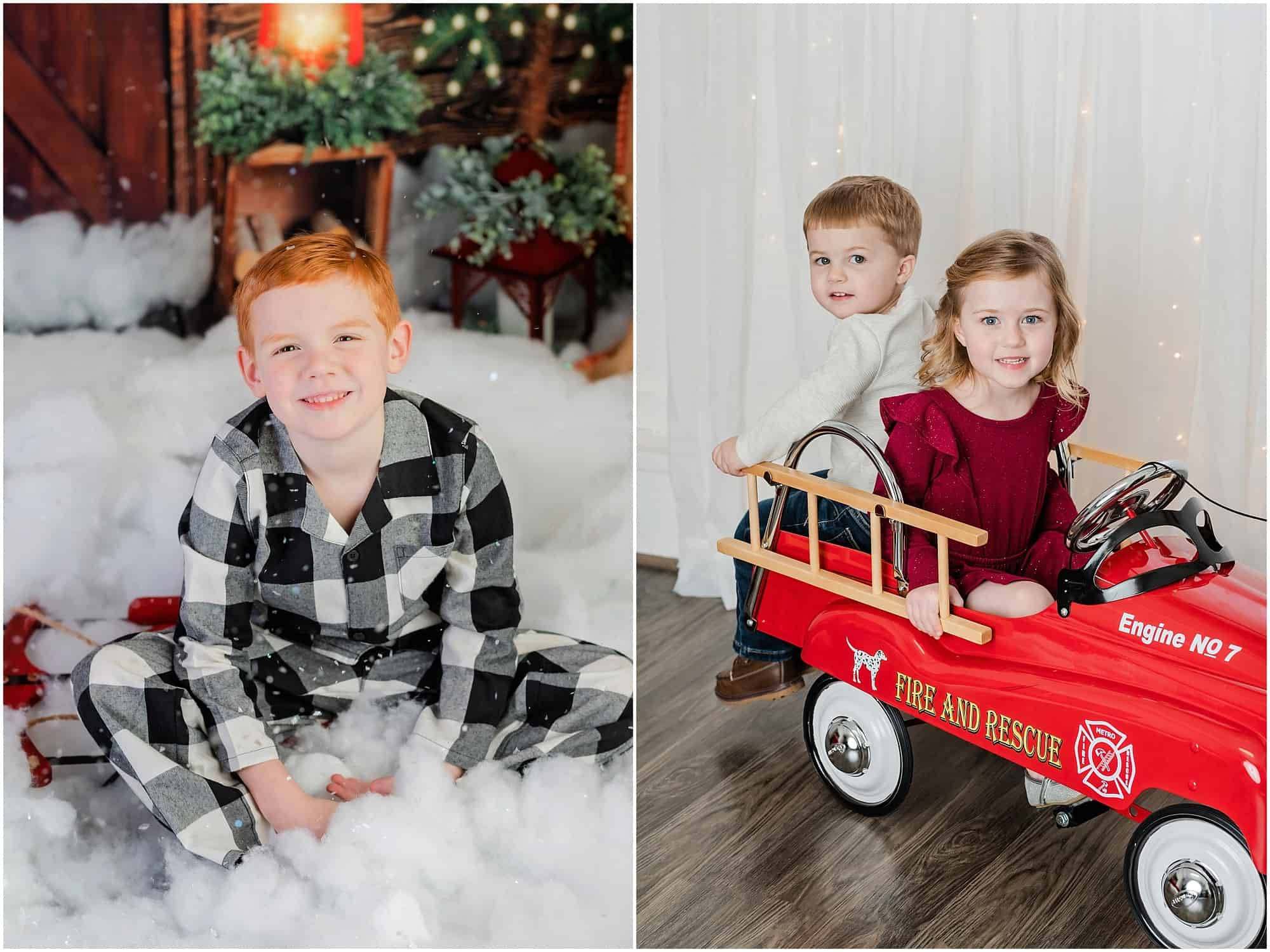 christmas portraits in mansfield ohio studio